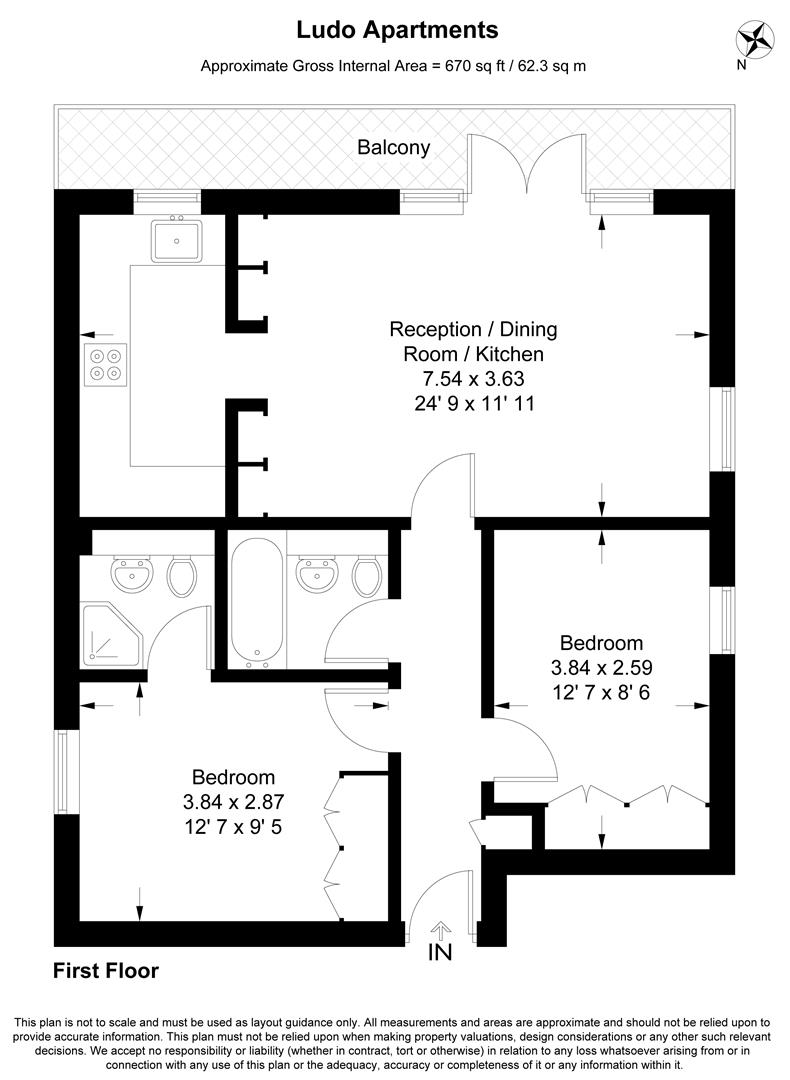 Floorplan for Earlsfield Road, Earlsfield, London